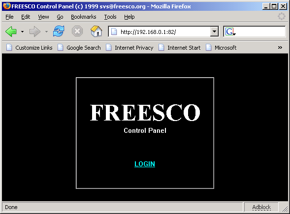 FREESCO web control panel